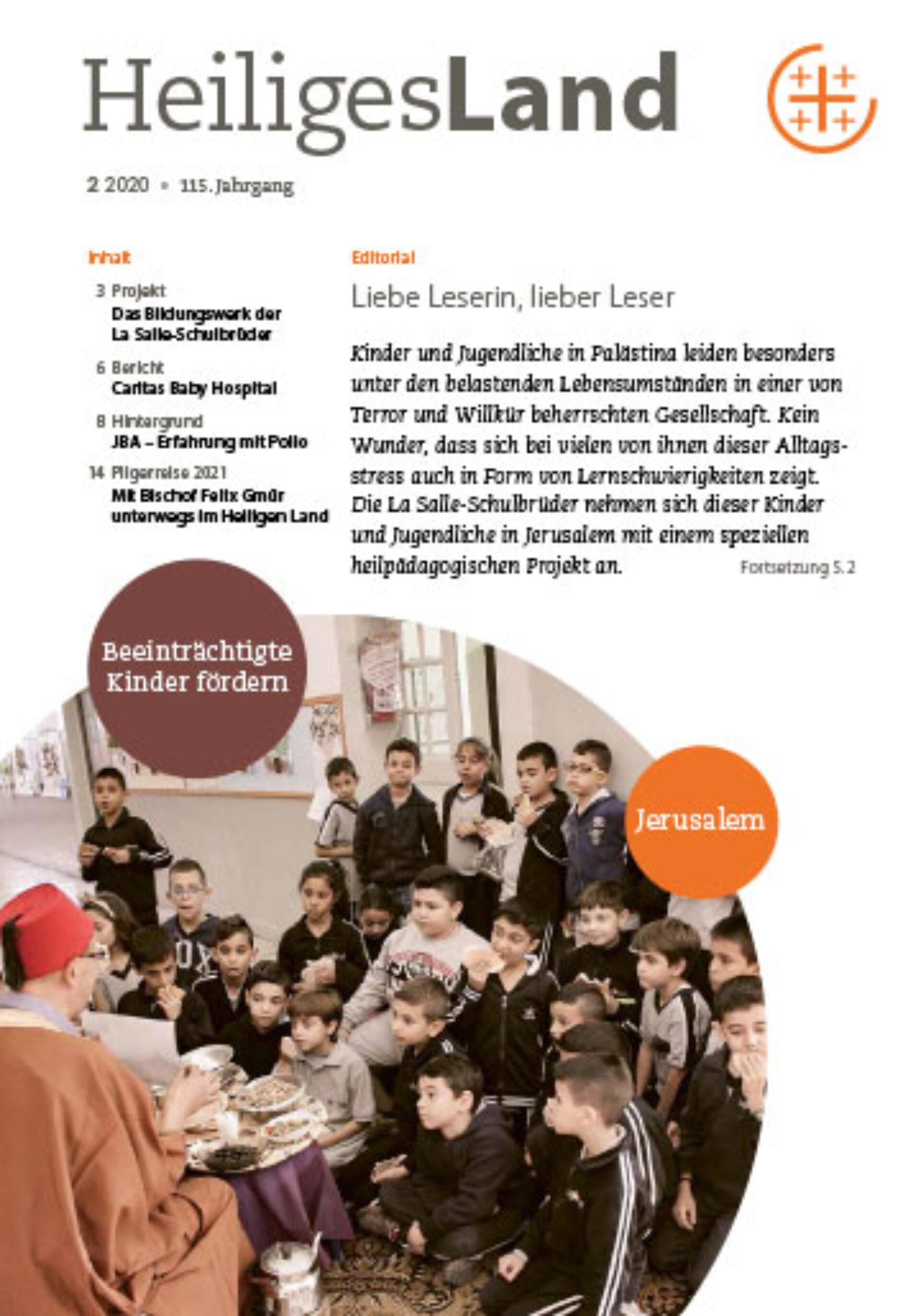 heiliglandverein zeitschrift info ausgabe 2 2020