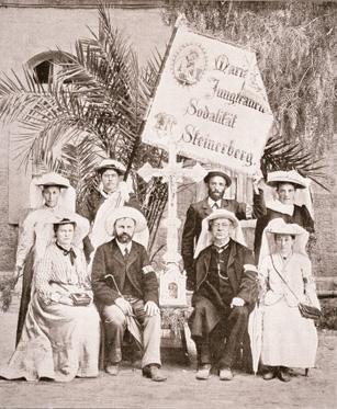 120 Jahre Schweizerischer Heiligland-Verein – Pilgerinnen und Pilger der Jungfrauenkongregation aus Steinerberg.