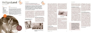 Auszug aus der Zeitschrift Heiligland-Verein zur 120-jährigen Geschichte des Vereins.
